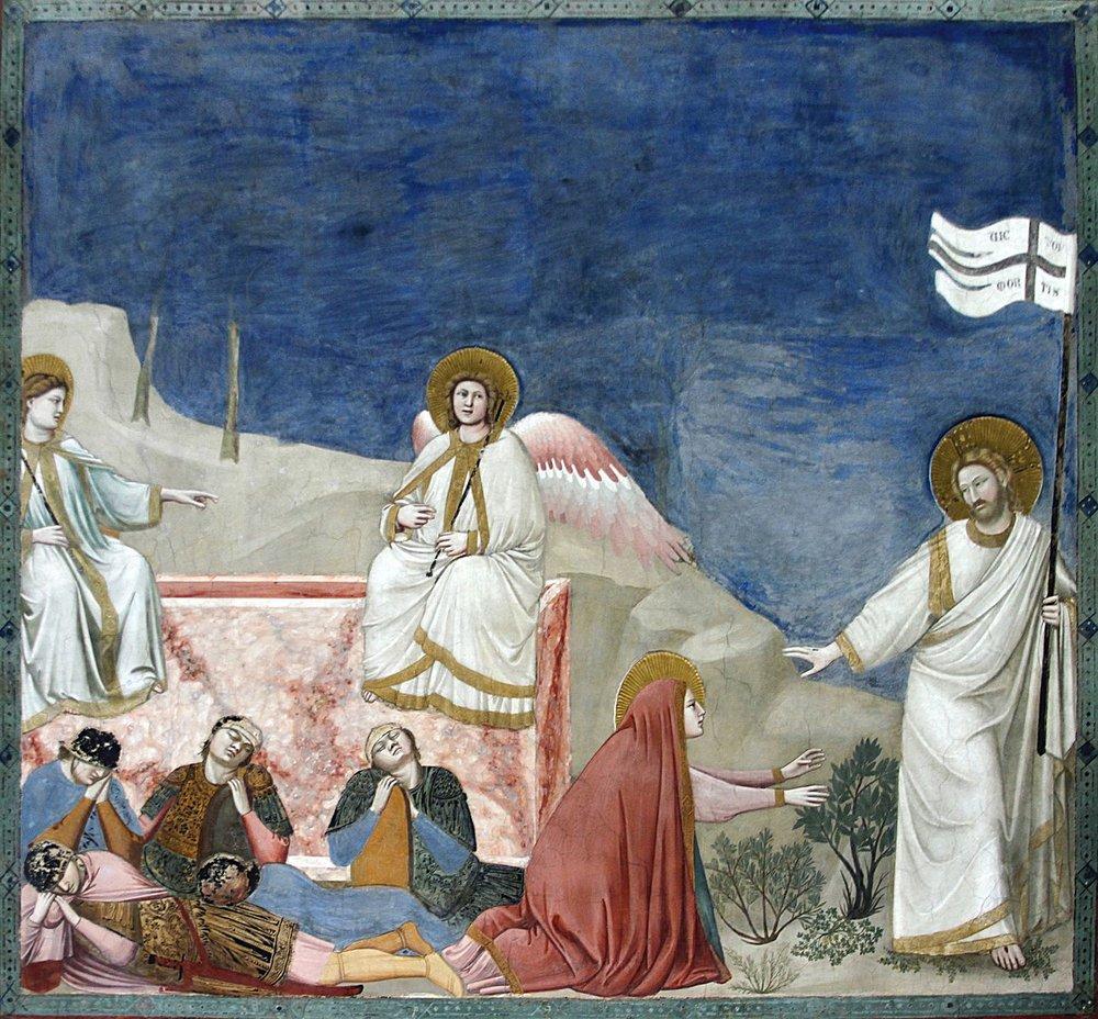 Giotto,  Noli me tangere. Scrovegni Chapel, Padua
