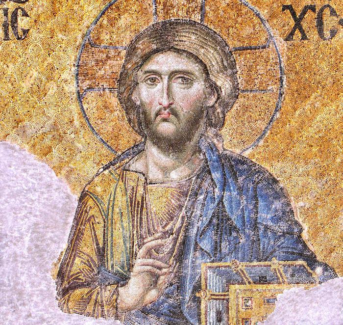 Jesus Christ Pantocrator . Hagia Sophia, Istanbul.