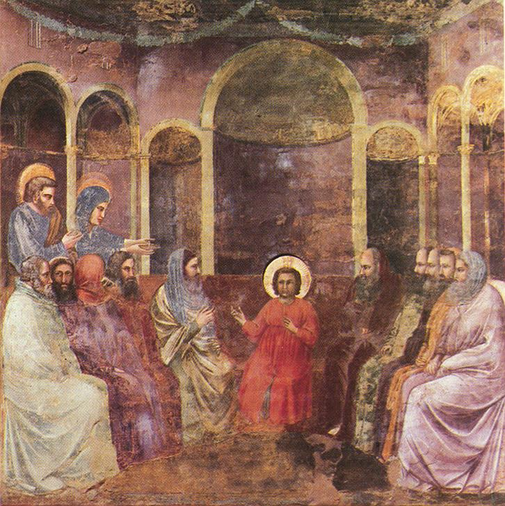 Giotto. The Finding in the Temple . Scrovegni Chapel, Padua.