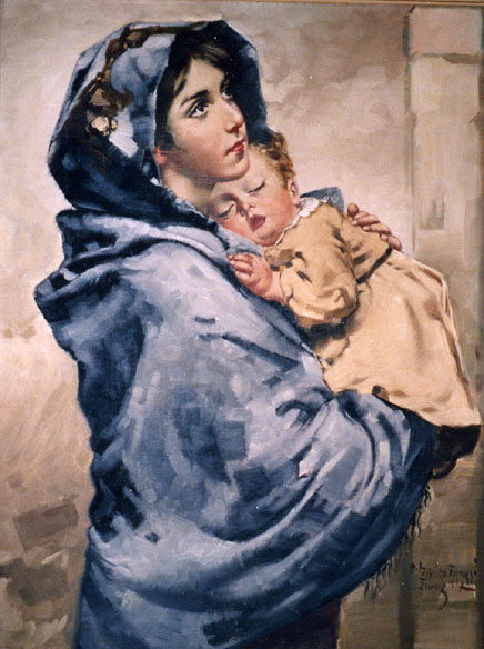 Roberto Ferruzzi. Madonnina .
