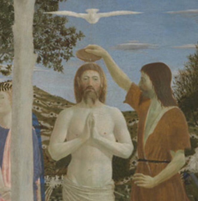 Pierro della Francesca.  The Baptism of Christ .