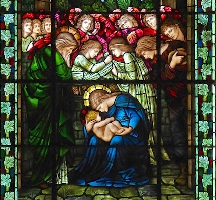 Edmund Burne-Jones.  The Nativity . Epiphany Chapel, Winchester Cathedral.