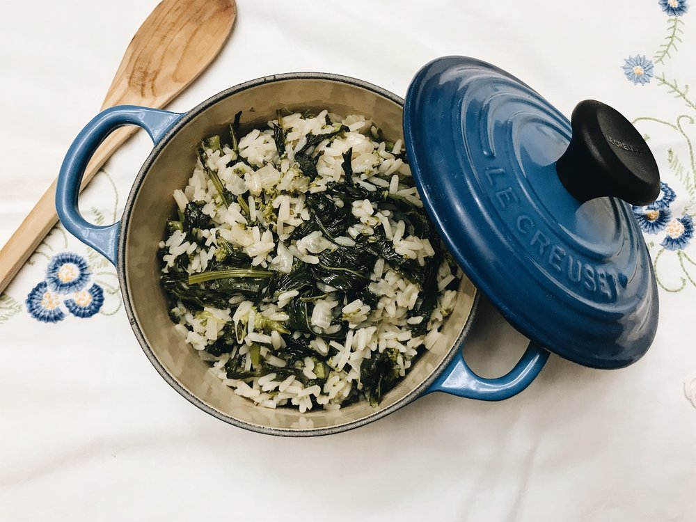 Arroz de Grelos (Broccoli Rabe Rice)