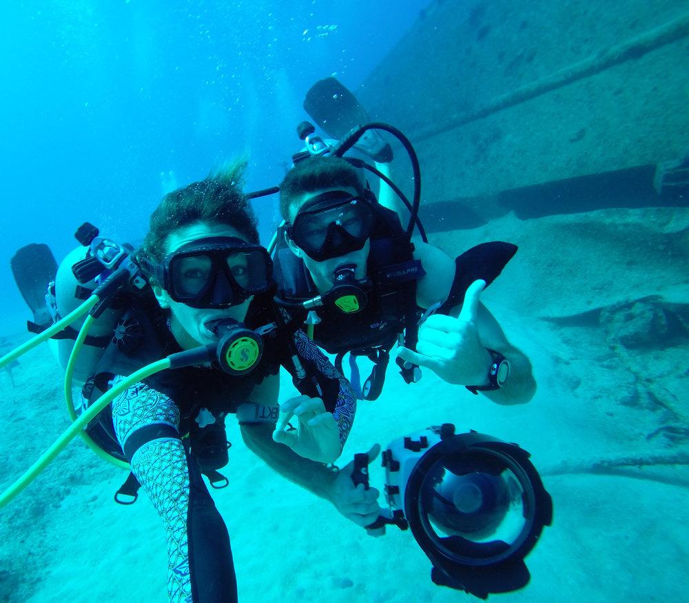 Wreck dive with photographer Josh Liberman off the coast of Nassau.