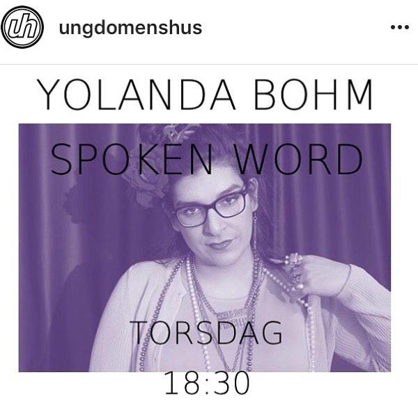 18:30 ikväll på @ungdomenshus i Uppdala kör ja poesi stand up + håller öppen scen! välkomnaaaa 🎤❤️❤️❤️