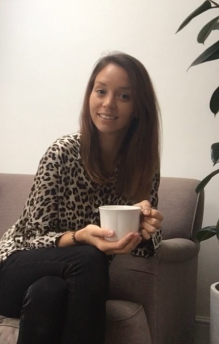 This is me…happiest with a cup of tea in hand, chatting about birth!