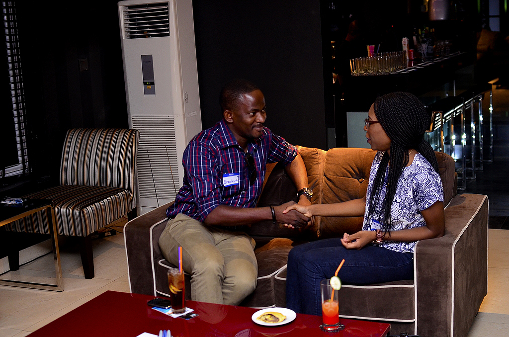 With Channels TV producer and reporter Oreoluwa Shonibare at a YAP&E event.