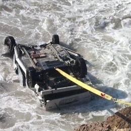 Car in Ocean PCH
