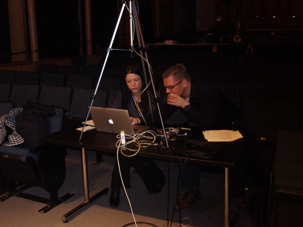 CUNY Graduate Center, April 2013, NYC, USA,  New York City Electroacoustic Music Festival  with Kelli Kathman