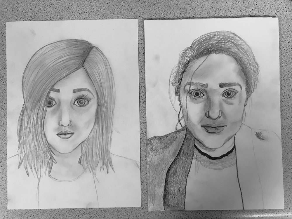 Dodgy attempt one on the left, improved attempt two on the right