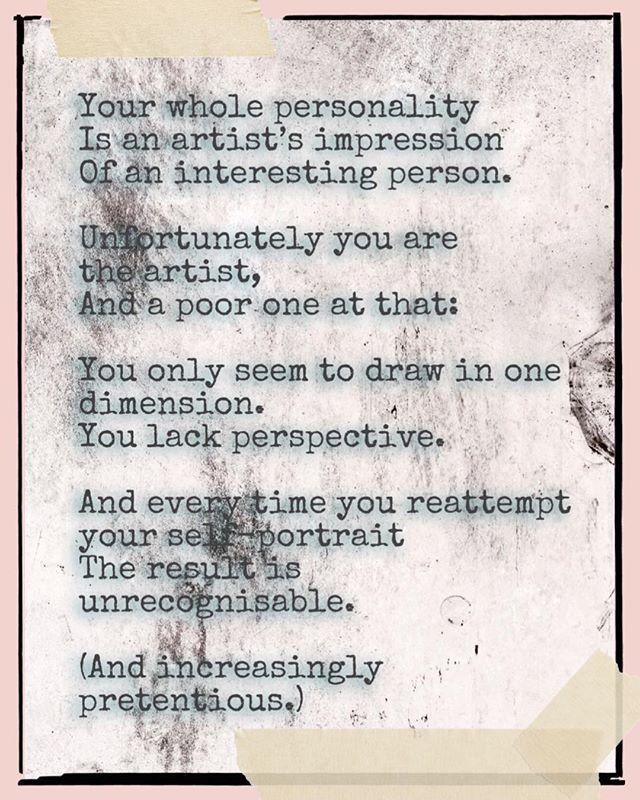 The art of artifice  #poetry #love #poetrycommunity #writersofinstagram #poem #poet #quotes #writer #poems #poetsofinstagram #writing #art #words #wordporn #escapril #napowrimo #penguinplatform #globalpoetcult  #ukpoet #creativewriting #poetsofig #amwriting