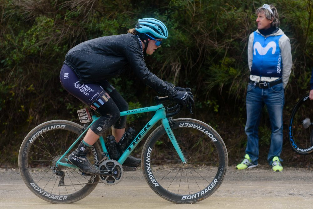 Lizzie Holden at Strade Bianche - Elite Women 2018 - a 136 km road race on March 3, 2018, starting and finishing in Siena, Italy. (Photo by Sean Robinson/Velofocus.com)