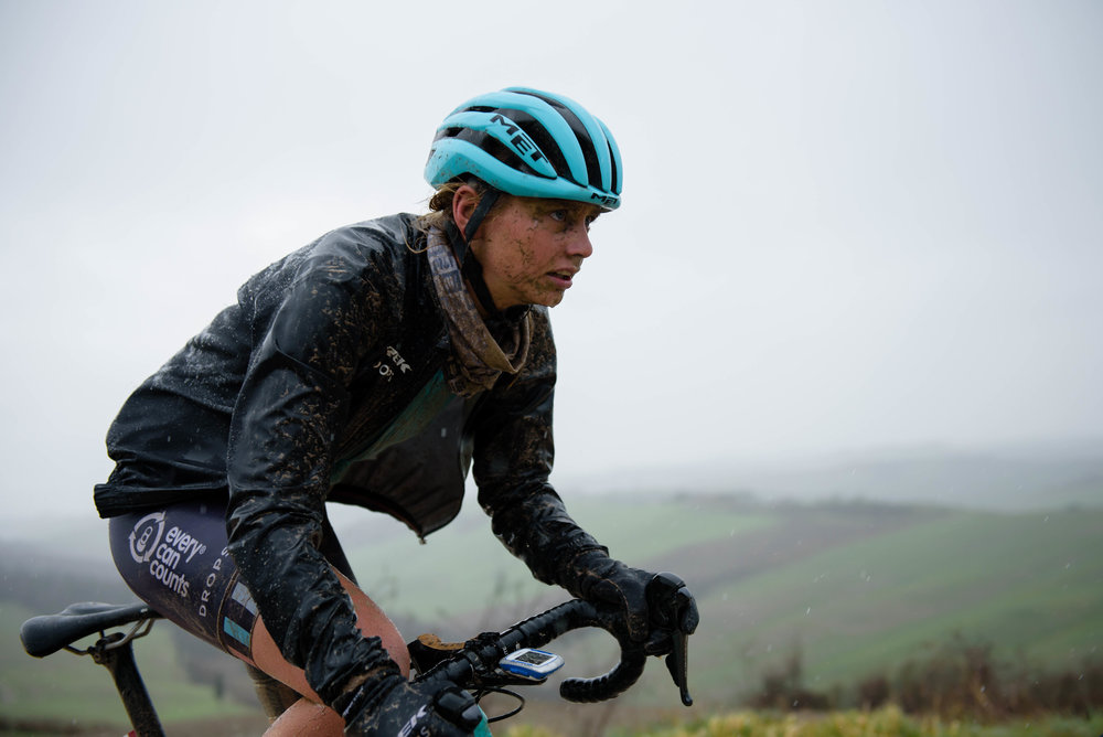 Eva Buurman at Strade Bianche - Elite Women 2018 - a 136 km road race on March 3, 2018, starting and finishing in Siena, Italy. (Photo by Sean Robinson/Velofocus.com)