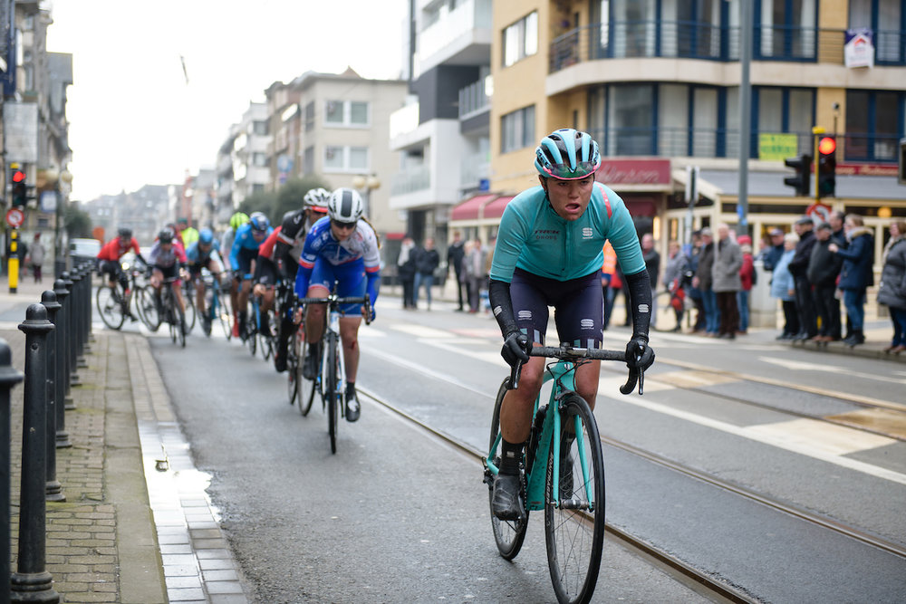 Abby-Mae Parkinson (GBR) at Driedaagse Brugge - De Panne 2018 - a 151.7 km road race from Brugge to De Panne on March 22, 2018. Photo by Sean Robinson/Velofocus.com