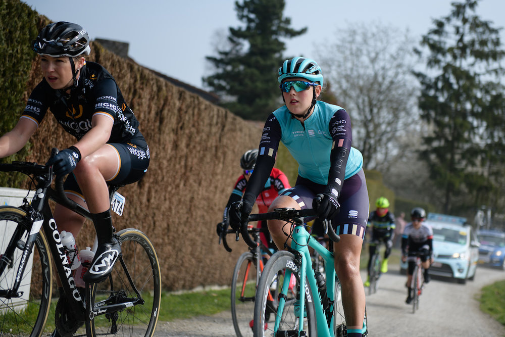Lizzie Holden (GBR) at Gent Wevelgem Elite Women 2018 - a 143 km road race from Ieper to Wevelgem on March 25, 2018. Photo by Sean Robinson/Velofocus.com