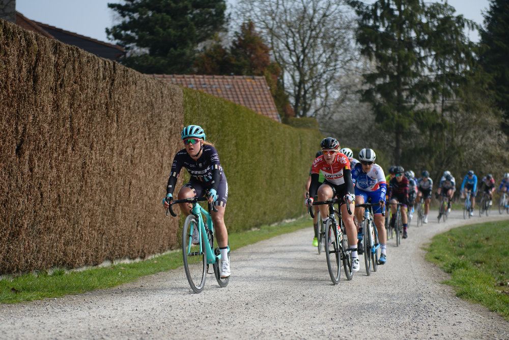 Abby-Mae Parkinson (GBR) at Gent Wevelgem Elite Women 2018 - a 143 km road race from Ieper to Wevelgem on March 25, 2018. Photo by Sean Robinson/Velofocus.com