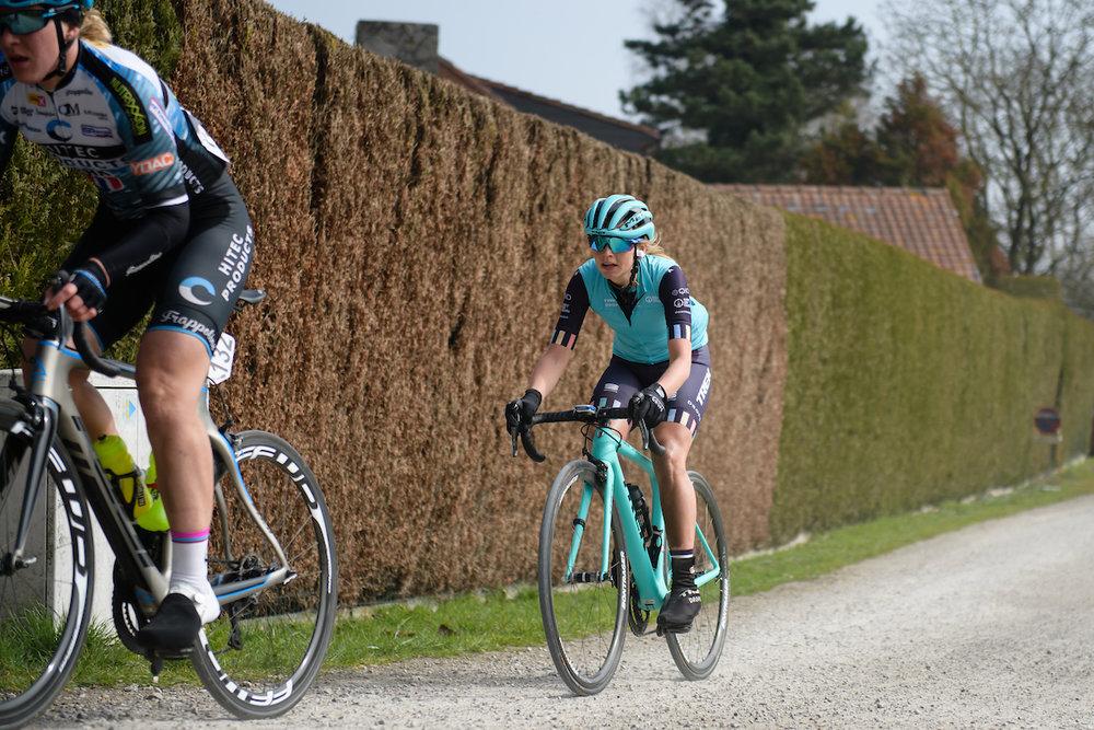 Eva Buurman (NED) at Gent Wevelgem Elite Women 2018 - a 143 km road race from Ieper to Wevelgem on March 25, 2018. Photo by Sean Robinson/Velofocus.com