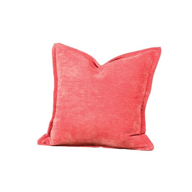 "CORAL PLUSH PILLOW   20""l x 20""h"