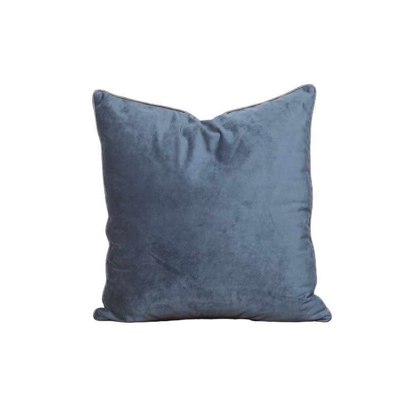 "NAVY PLUSH PILLOW   18""l x 18""h"