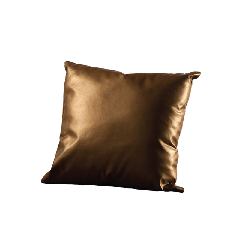 "GOLD MATTE PILLOW   16""l x 16""h"