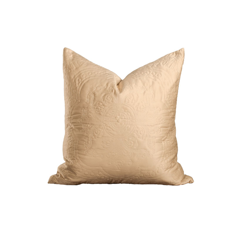 "GOLD SILK PILLOW   18""l x 18""h"