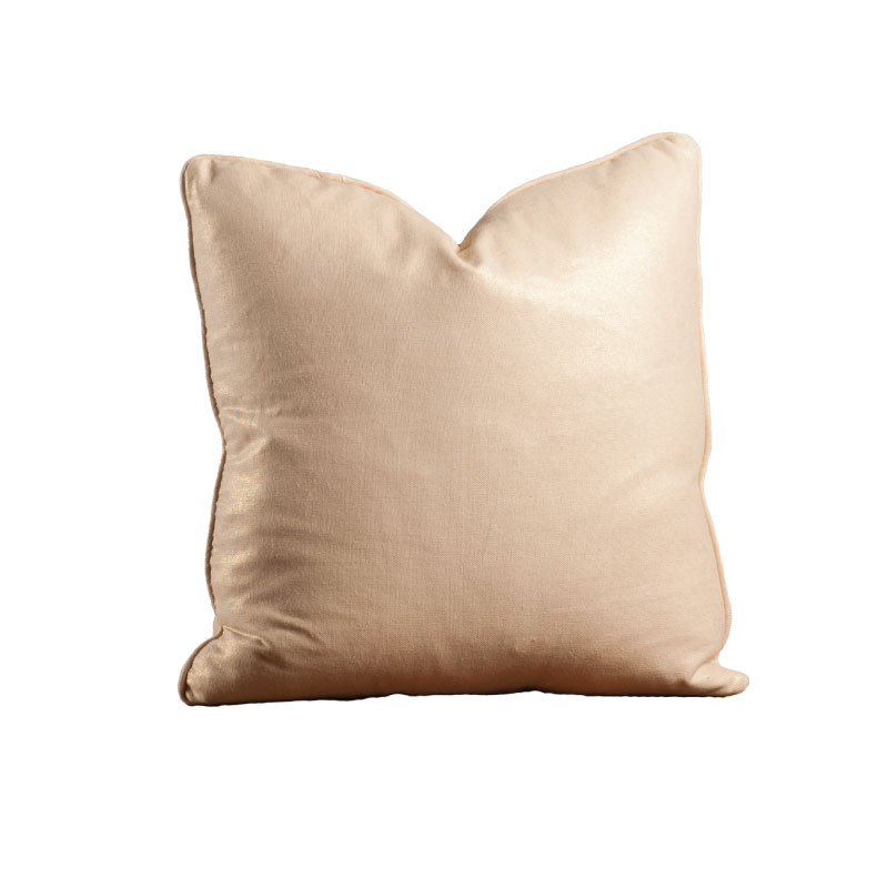 "LARGE GOLD PILLOW   20""l x 20""h"