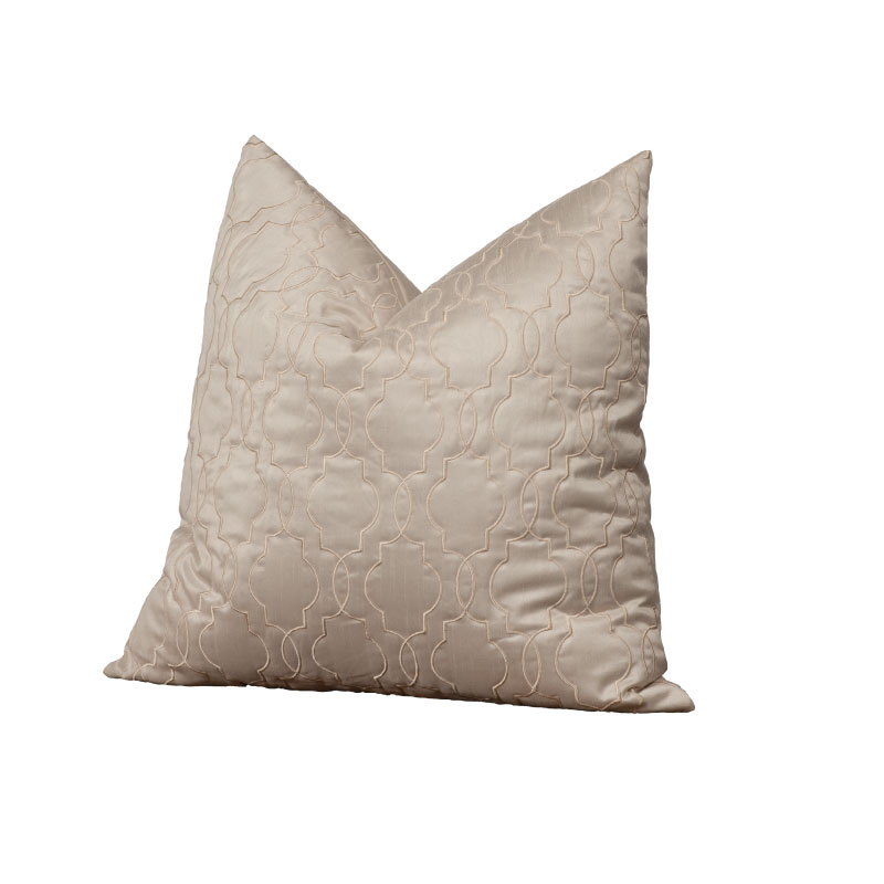 "IVORY SILK PILLOW   18""l x 18""h"