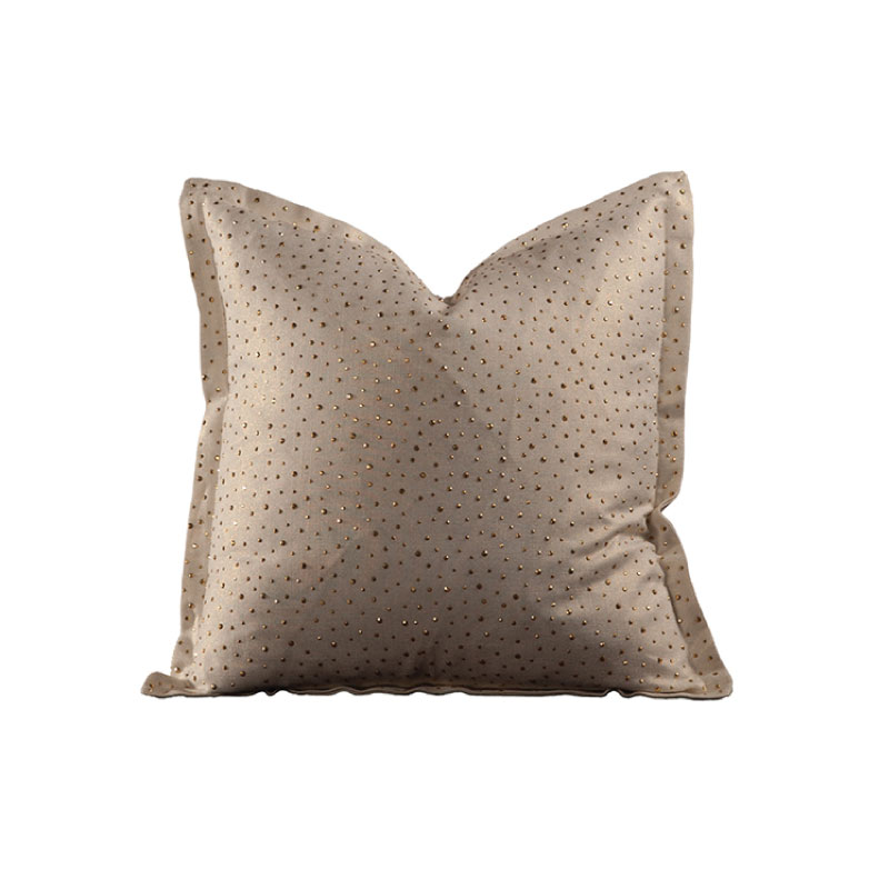 "WHITE & GOLD SHIMMER PILLOW   20""l x 20""h"