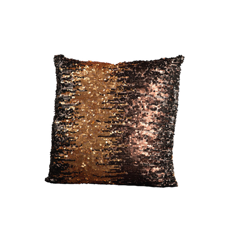 "OMBRE SEQUIN PILLOW   18""l x 18""h"