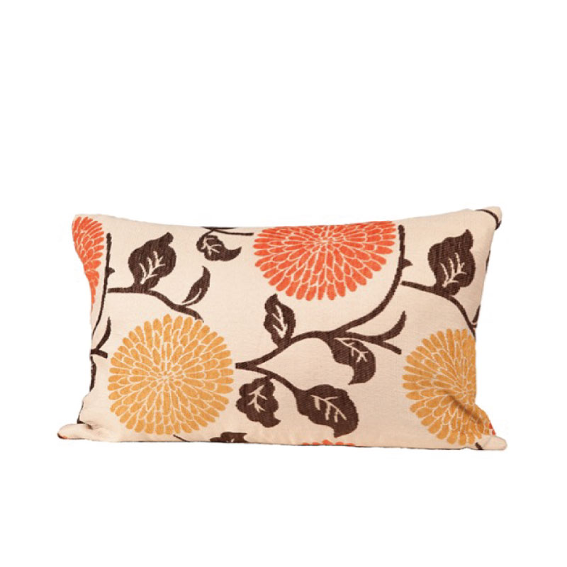 "FLORAL ACCENT PILLOW   22""l x 16""h"