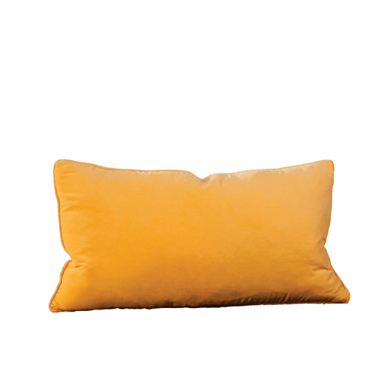 "YELLOW VELVET ACCENT PILLOW   24""l x 14""h"