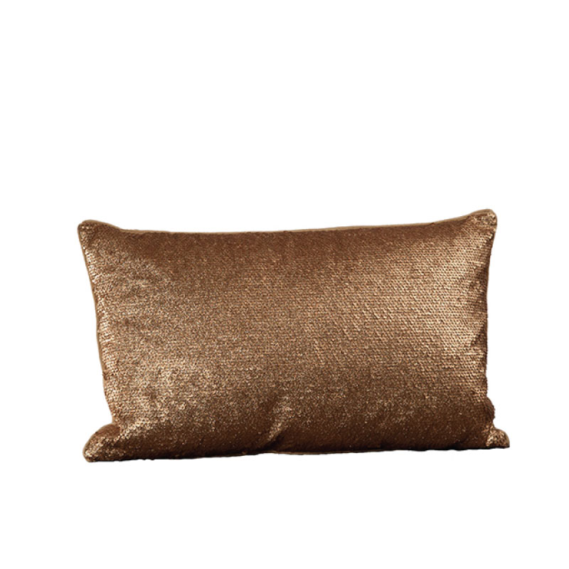 "GOLD GLITTER ACCENT PILLOW   62""l x 2'w x 49""h"