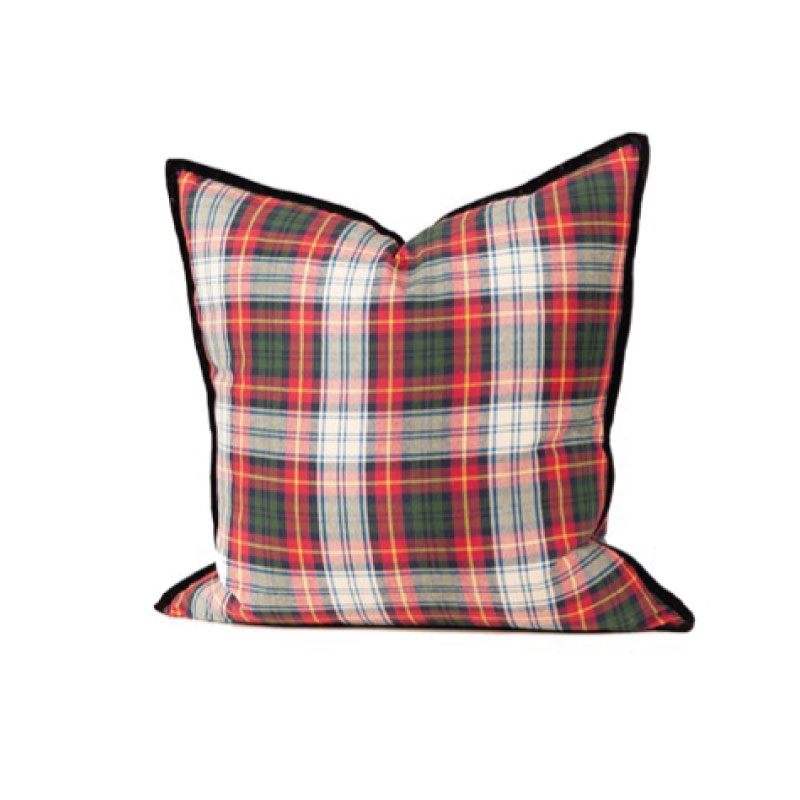 "PLAID PILLOW   18""l x 18""h"