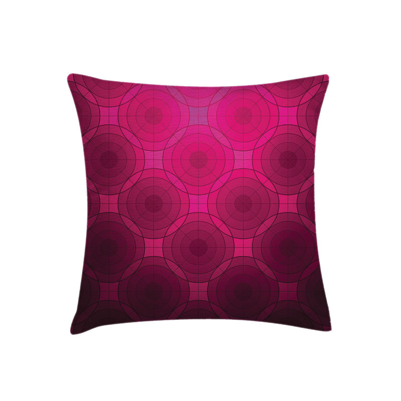 "MAGENTA GEOMETRIC PILLOW   18l""x 18""h"