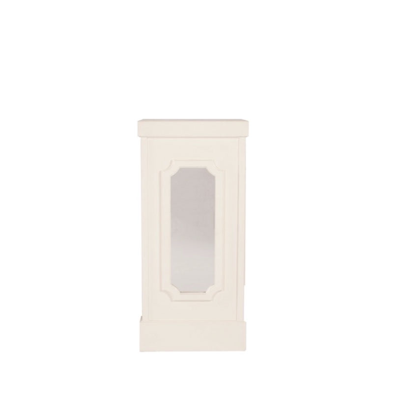 "GEORGIA COLUMN WITH FLAT MIRROR INSERTS   20""l x 20""w x 45""h"
