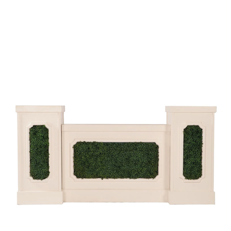 GEORGIA STAGE FACADE WITH BOXWOOD INSERTS   available for up to 24' stage facade