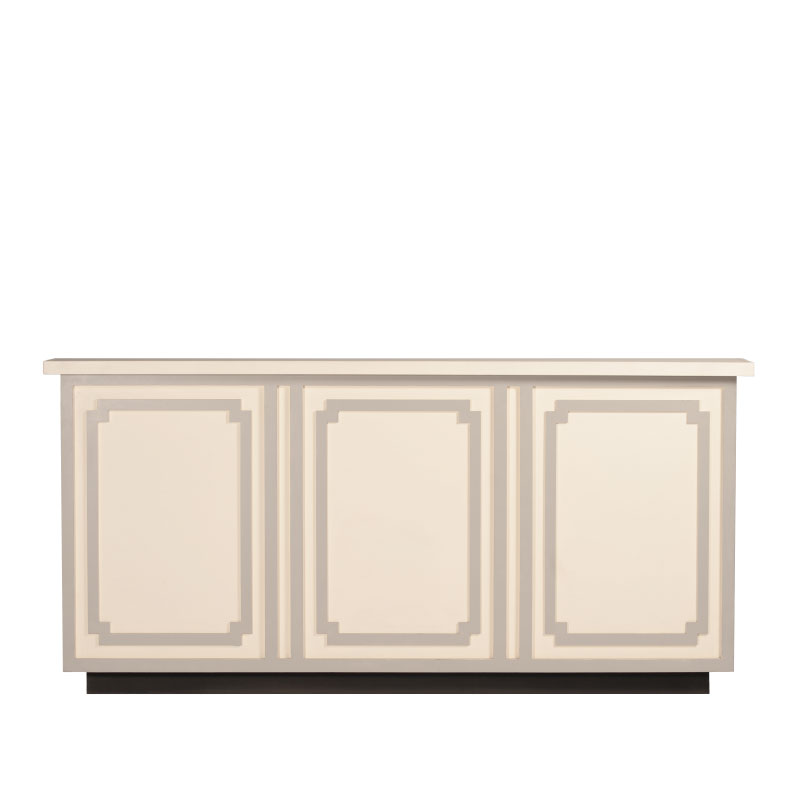 "VIVIAN BAR FACADE   8'l x 44""h x 15"" top with 16"" side returns"