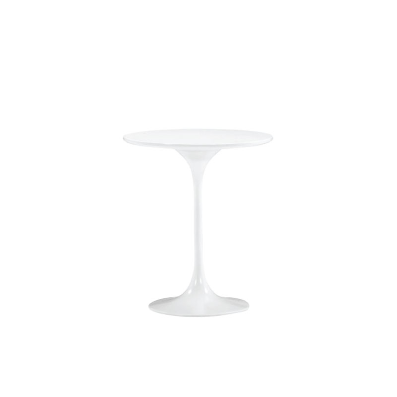 "WHITE JETSON SIDE TABLE   20"" diameter x 23""h"