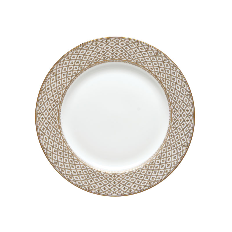 "VERSAILLES  GOLD   available in: Dinner Plate (10.75""), Salad/Dessert Plate (8""), Bread/Saucer (6""), Soup Dish (8.5"") and Coffee Cup (8.5 oz)"