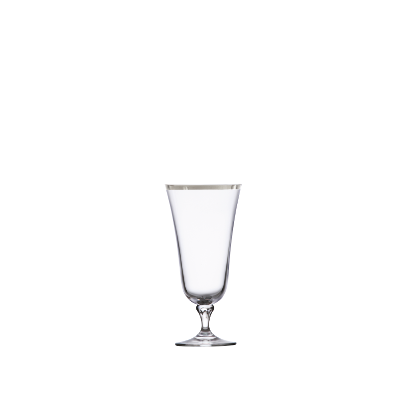 PLATINUM RIM ALL-PURPOSE GLASS   available in: 15 ounce
