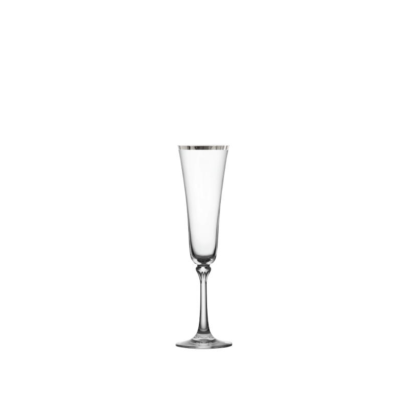 PLATINUM RIM CHAMPAGNE FLUTE   available in: 7.3 ounce