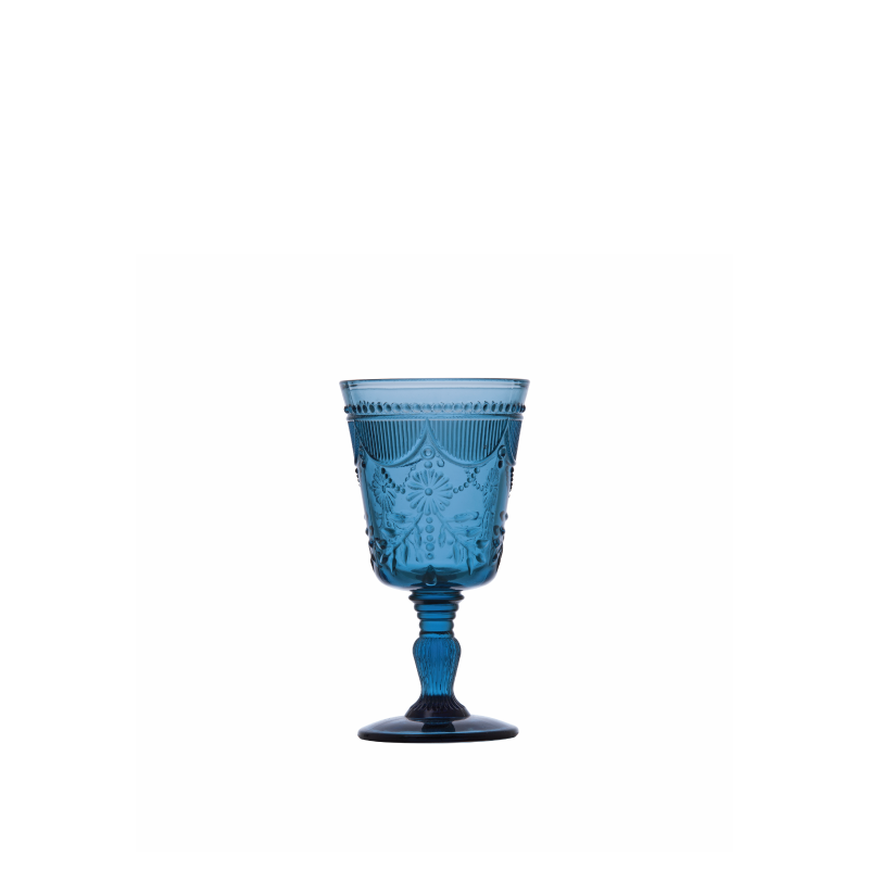DEBUTANTE BLUE GLASS GOBLET   available in: 10 ounce