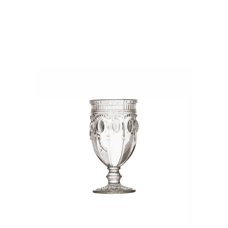 PARISIAN CLEAR FOOTED GLASS   available in: 12 ounce
