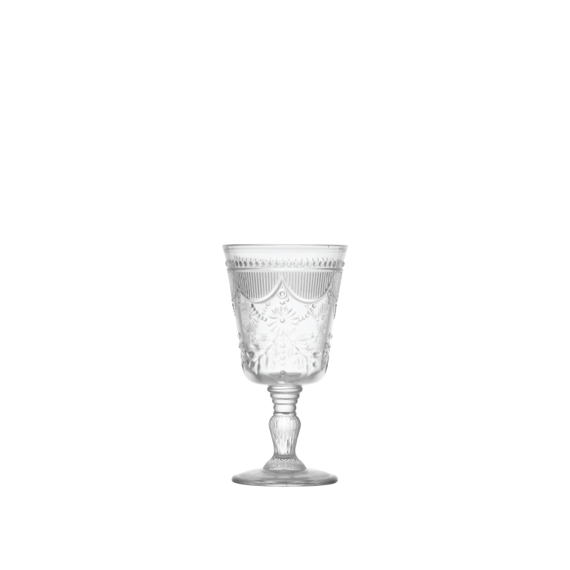 DEBUTANTE CLEAR GLASS GOBLET   available in: 10 ounce