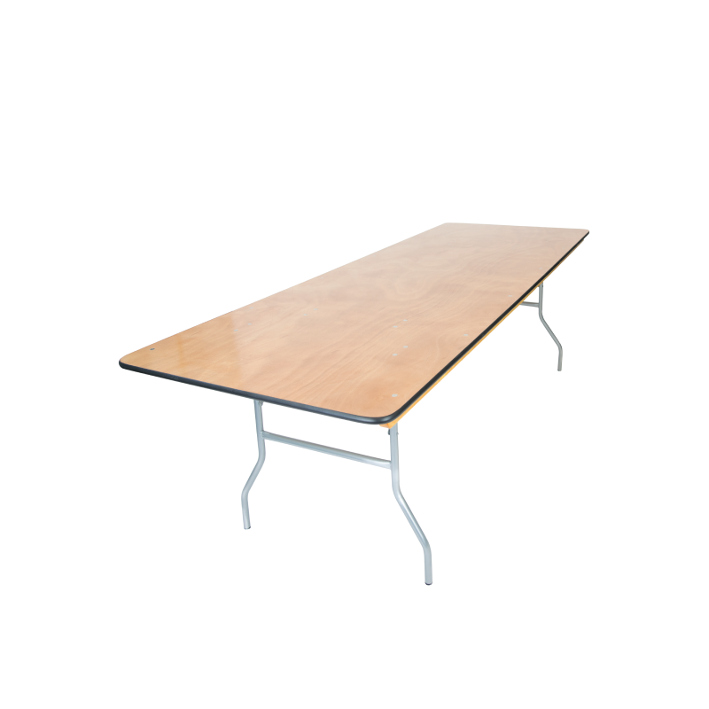 "RECTANGULAR TABLE   available in: 30"" x 4', 30"" x 6', 30"" x 8'"