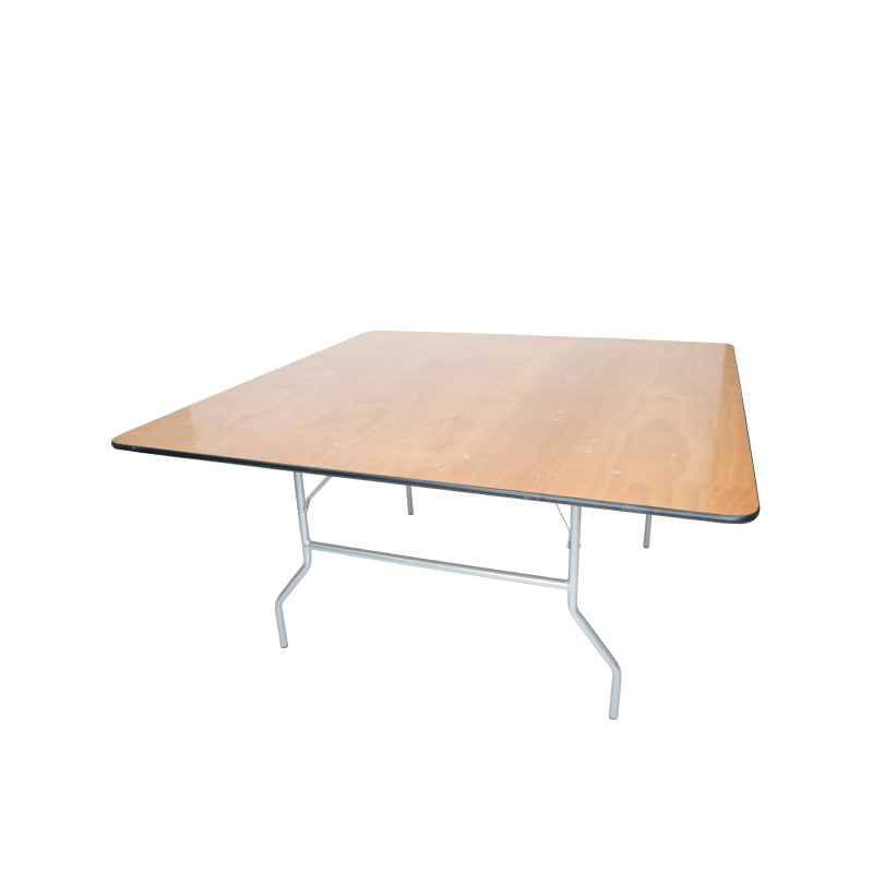 SQUARE TABLE   available in: 4'x 4', 5'x 5'