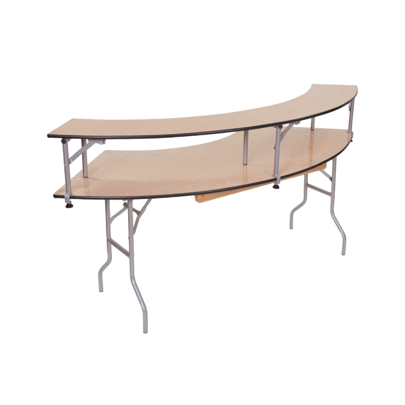 SERPENTINE BAR RISER TABLE   available in: 5'