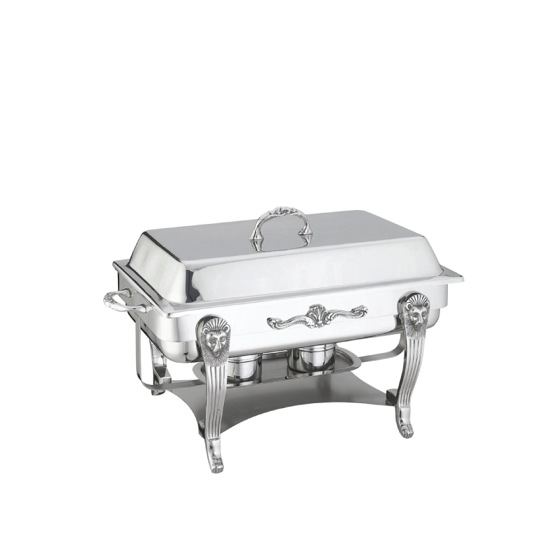 SILVER PLATED RECTANGULAR CHAFING DISH   available in: 8 quart