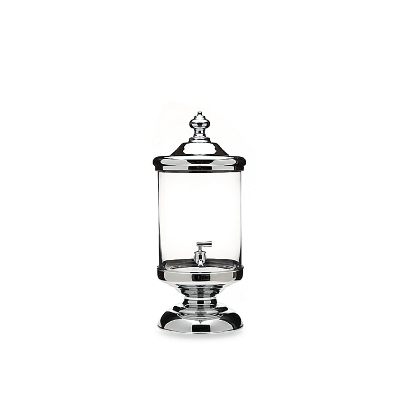 GLASS & CHROME BEVERAGE DISPENSER   available in: 2.5 gallon