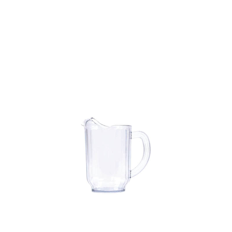 CLEAR PLASTIC PITCHER   available in: 60 ounce